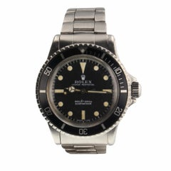 Rolex Submariner Steel Black Dial Automatic Men's Watch 5513, circa 1969