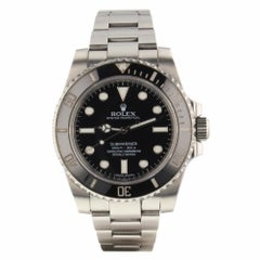Rolex Submariner Steel Ceramic Black Automatic Watch 114060 Papers Serial G