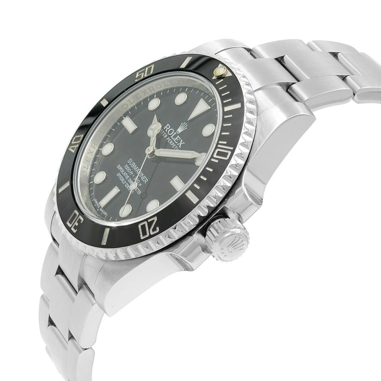 Rolex Submariner Steel Ceramic Black Dial Automatic Men's Watch 114060 For Sale 1