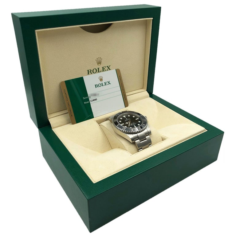 Rolex Submariner Steel Ceramic Black Dial Automatic Men's Watch 114060 For Sale 4