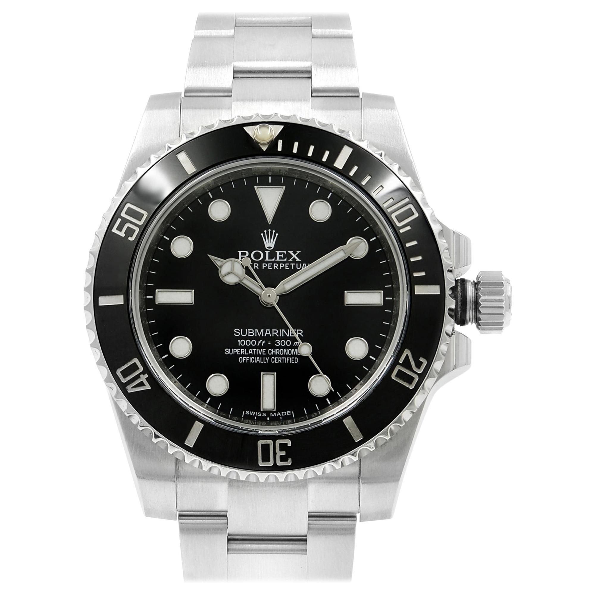 Rolex Submariner Steel Ceramic Black Dial Automatic Men's Watch 114060