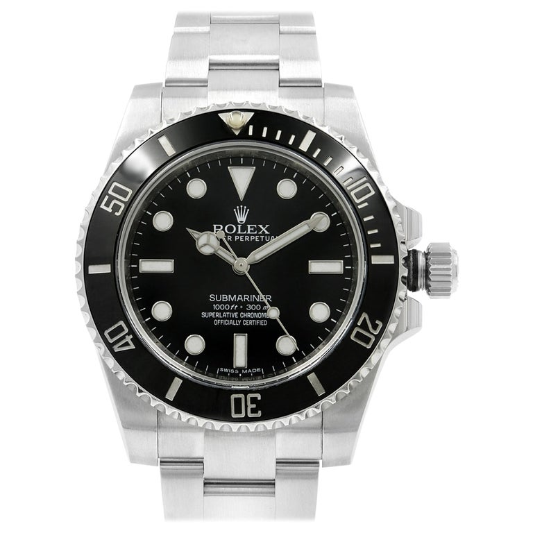 Rolex Submariner Steel Ceramic Black Dial Automatic Men's Watch 114060 For Sale