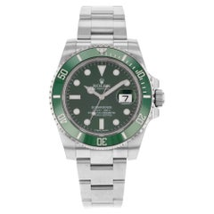 Rolex Submariner Steel Ceramic Hulk Green Dial Automatic Men's Watch 116610LV