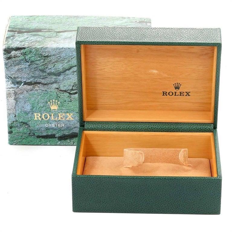 Rolex Submariner Steel Gold Diamond Sapphire Serti Dial Men's Watch 16613 8