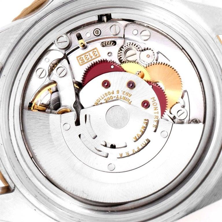 Rolex Submariner Steel Gold Diamond Sapphire Serti Dial Men's Watch 16613 6