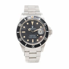 Rolex Submariner Steel Men's Oyster Bracelet Watch Date 16800, Matte Dial