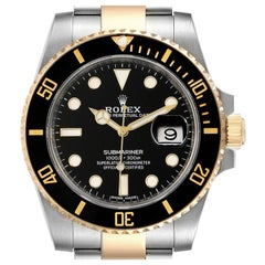 Rolex Submariner Steel Yellow Gold Black Dial Automatic Men's Watch 116613 Box