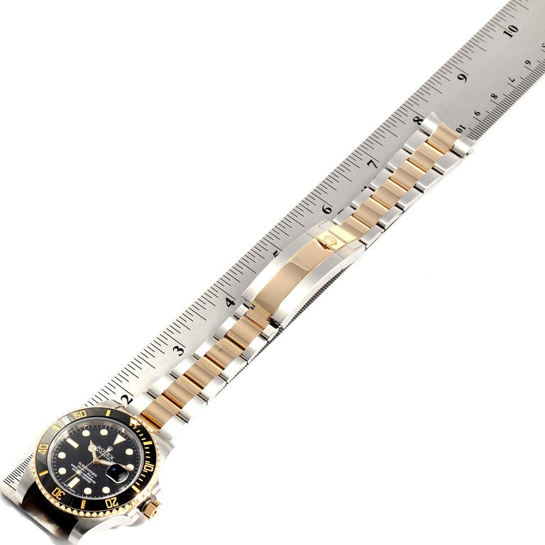 Rolex Submariner Steel Yellow Gold Black Dial Automatic Men's Watch 116613 For Sale 7