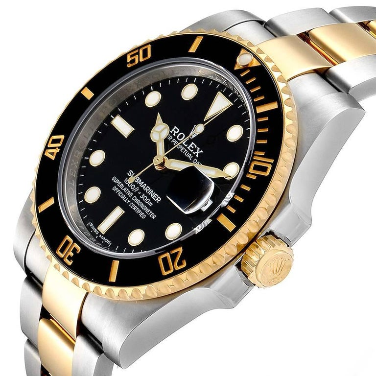 Rolex Submariner Steel Yellow Gold Black Dial Automatic Men's Watch 116613 2