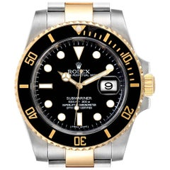 Rolex Submariner Steel Yellow Gold Black Dial Automatic Men's Watch 116613