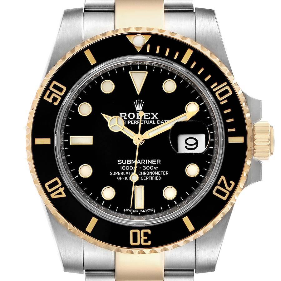 Rolex Submariner Steel Yellow Gold Black Dial Mens Watch 116613 Unworn