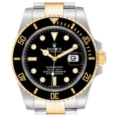 Rolex Submariner Steel Yellow Gold Black Dial Steel Men's Watch 116613
