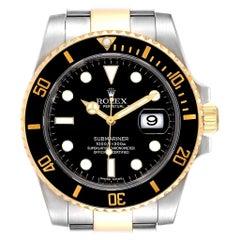 Rolex Submariner Steel Yellow Gold Black Dial Steel Men's Watch 116613
