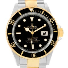 Rolex Submariner Steel Yellow Gold Black Dial Steel Men's Watch 16613