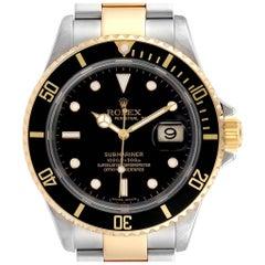 Rolex Submariner Steel Yellow Gold Men's Watch 16613 Box Papers