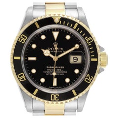 Rolex Submariner Steel Yellow Gold Oyster Bracelet Men's Watch 16613