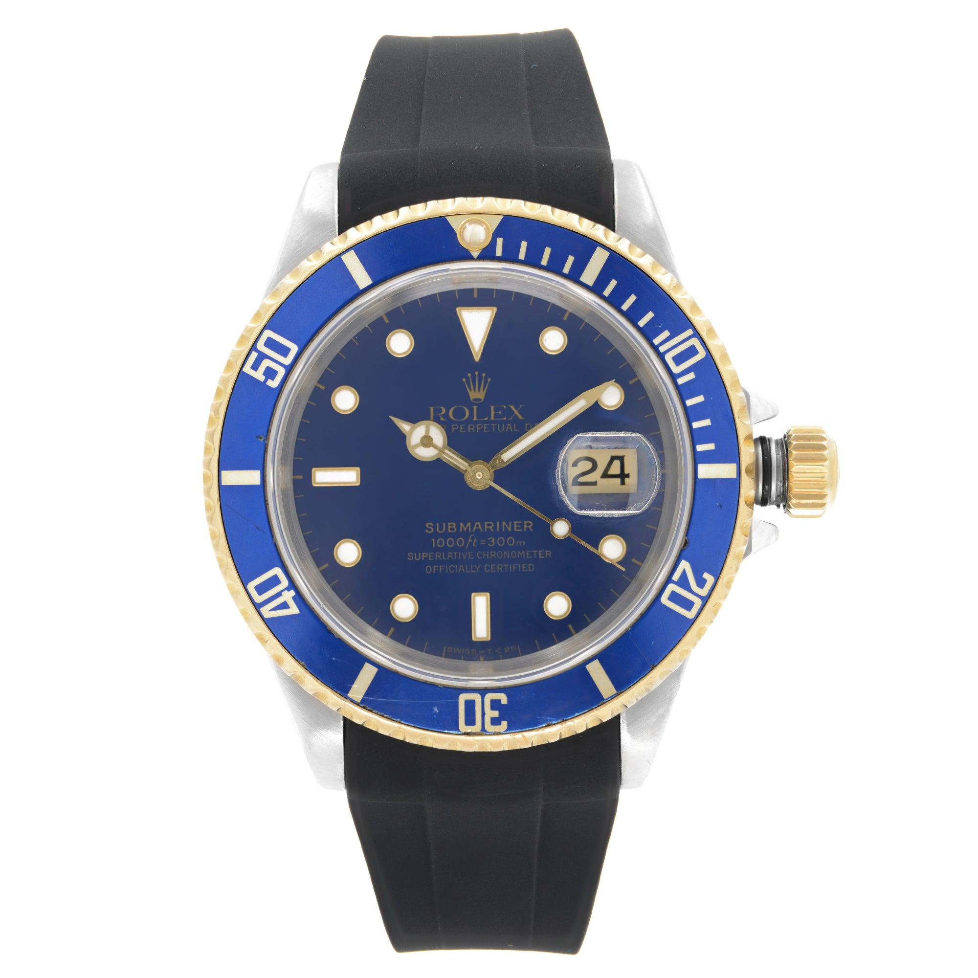 Rolex Submariner Two Tone Automatic Mens Watch 16613