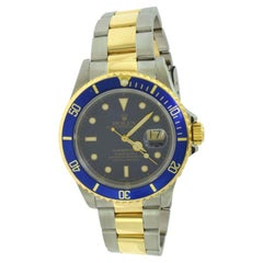 Rolex Submariner Two Tone Blue Dial & Bezel 18k Yellow Gold & Stainless Steel