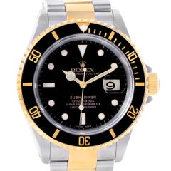 Rolex Submariner Two-Tone Steel Yellow Gold Men's Watch 16613