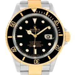 Rolex Submariner Two-Tone Steel Yellow Gold Men's Watch 16613