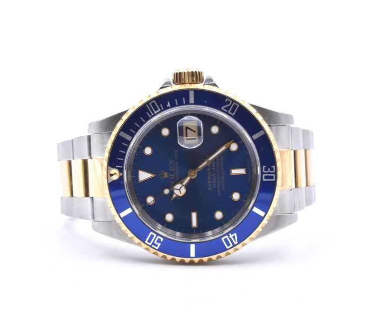 Rolex Submariner Two-Tone Watch Ref 16613 In Excellent Condition For Sale In Scottsdale, AZ