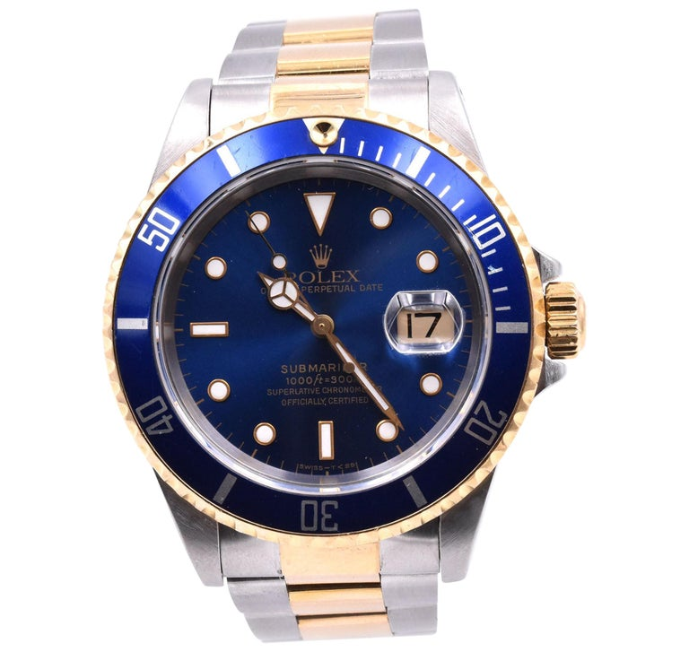 Rolex Submariner Two-Tone Watch Ref 16613 For Sale