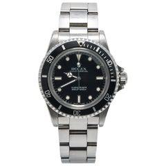 Rolex Submariner Vintage 5513 9.7 Million Serial Unpolished 2 Liner Watch