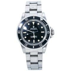 Rolex Submariner Vintage 5513 Spider Dial 8.9 Mil Unpolished Patina Watch