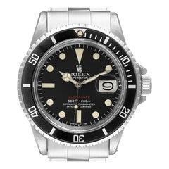 Rolex Submariner Vintage Black Mark V Dial Steel Mens Watch 1680
