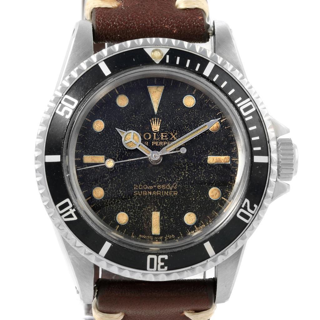 Men's Watch Gloss Rolex Submariner Vintage Dial Guilt 1stdibs 5513 At 76YbIvfgy