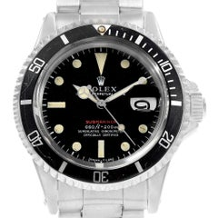Vintage Rolex Submariner Mark IV Zifferblatt Stahl Herrenuhr 1680