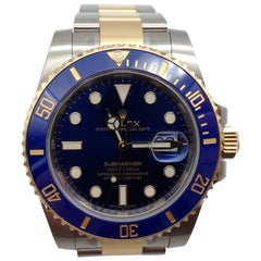 Rolex Submariner Watch Steel and Gold Reference 116613 New with Box and Papers