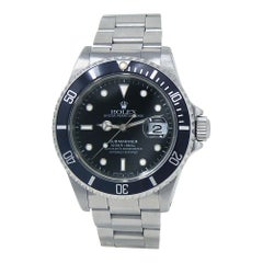 Rolex Submariner 'X Serial' Stainless Steel Men's Watch Automatic 16610