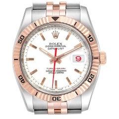 Rolex Turnograph Datejust Steel 18 Karat Rose Gold Men's Watch 116261