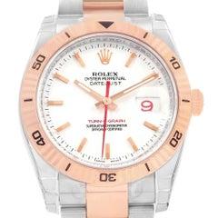 Rolex Turnograph Datejust Steel Rose Gold Watch 116261 Unworn