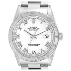 Rolex Turnograph Datejust Steel White Gold Steel Men's Watch 16264