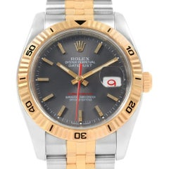 Rolex Turnograph Datejust Steel Yellow Gold Watch 116263 Box Papers