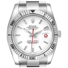 Rolex Turnograph Steel White Gold Bezel Men's Watch 116264 Box