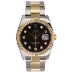 Rolex Two-Tone 18 Karat Gold and Stainless Steel Diamond Dial Datejust 116233
