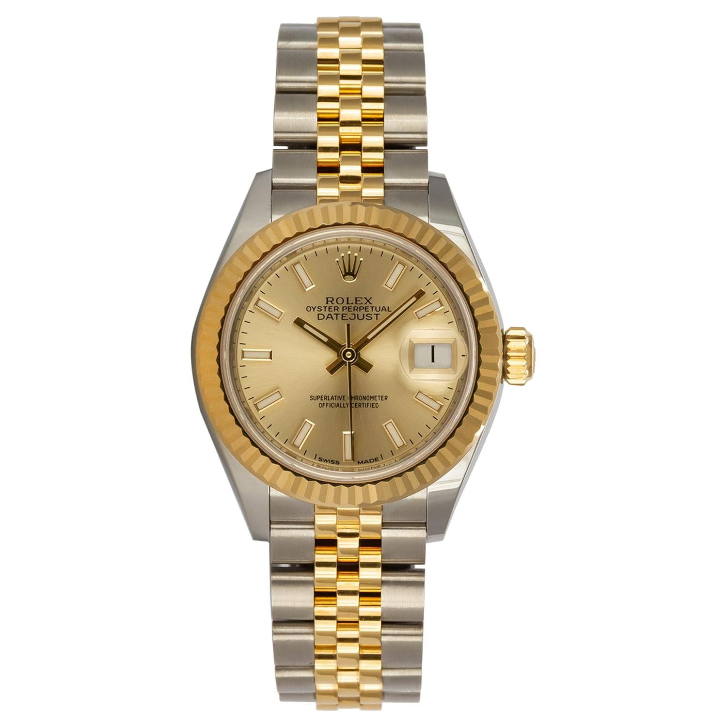 Rolex Two-Tone 18 Karat Yellow Gold Stainless Steel Datejust 279173 Box & Papers