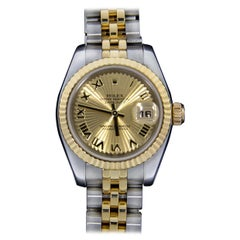 Rolex Two-Tone Datejust Watch Sunbeam Dial with Box and Paper