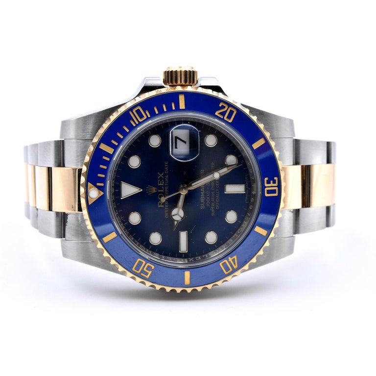 Rolex Two-Tone Ceramic Submariner Watch Ref. 116613LB In Excellent Condition For Sale In Scottsdale, AZ