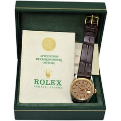 Rolex Two-Tone Date with Box and Original Papers, circa 1971