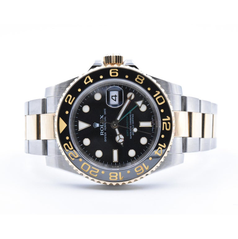 Rolex Two-Tone GMT Master II Watch Ref. 116713 In Excellent Condition For Sale In Scottsdale, AZ