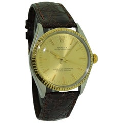 Rolex Two-Tone Oyster Perpetual with Original Strap and Buckle circa 1971 or 72