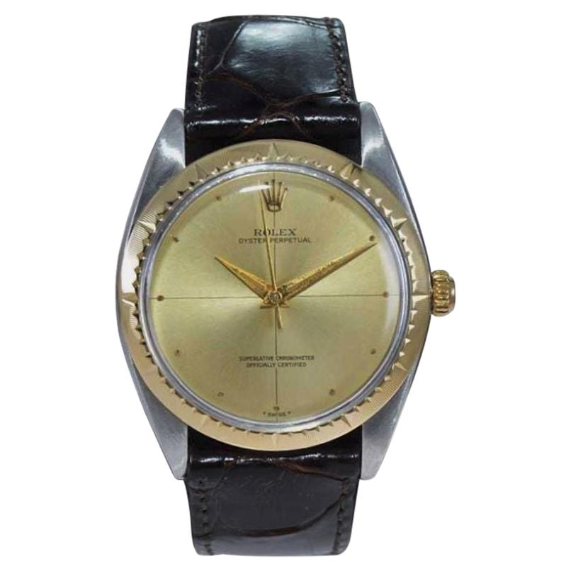 Rolex Two Tone Rare Zephyr Model with Flawless Original Dial from Mid 1960's