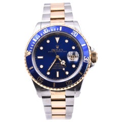 Rolex Two-Tone Submariner with Blue Dial/Bezel Watch Ref. 5947