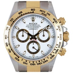 Rolex Unworn Cosmograph Daytona Stainless Steel & 18k Yellow Gold White Dial B&P