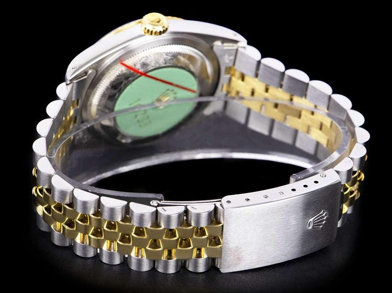 Rolex Unworn Datejust Stainless Steel & 18k Yellow Gold Diamond Dial B&P 16233 For Sale 1
