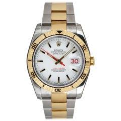 Rolex Unworn Datejust Turn-O-Graph Gents Stainless Steel & 18 Karat Yellow Gold